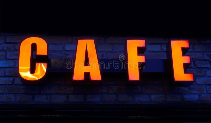 Sinal do café fotografia de stock