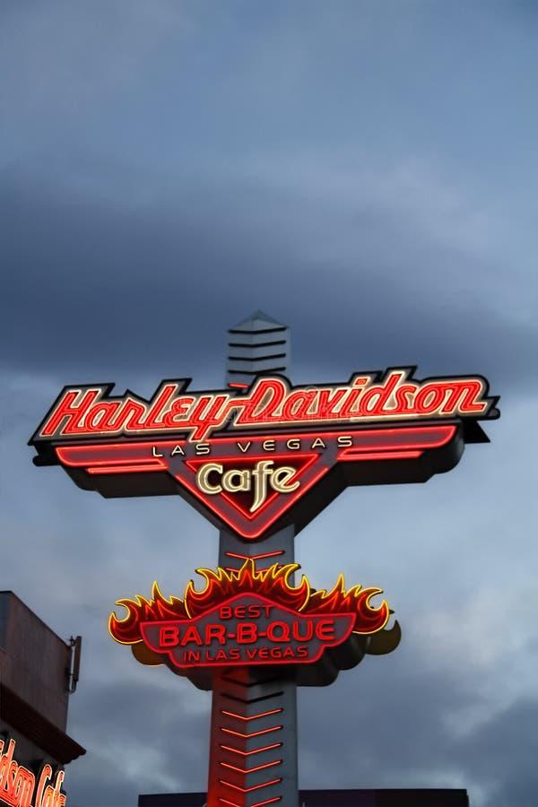 Sinal do café de Harley Davidson Las vegas fotografia de stock