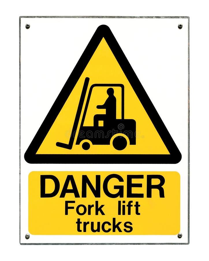 Sinal do caminhão de forklift imagem de stock