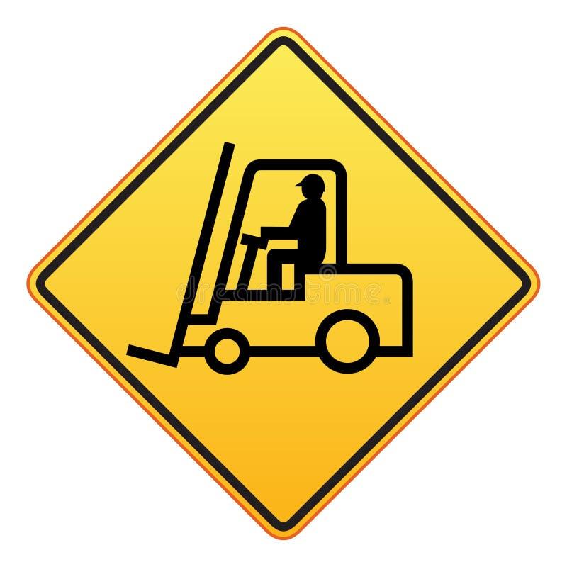Sinal do caminhão de Forklift ilustração stock