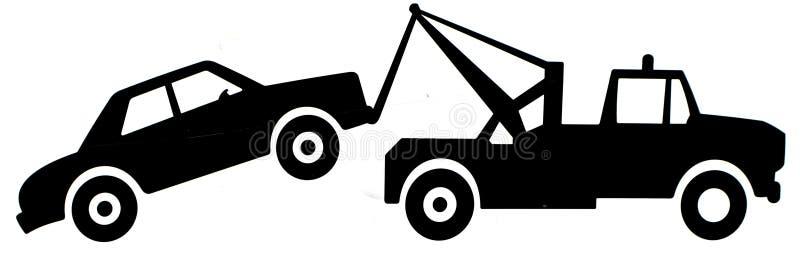 Sinal do caminhão de reboque ilustração do vetor