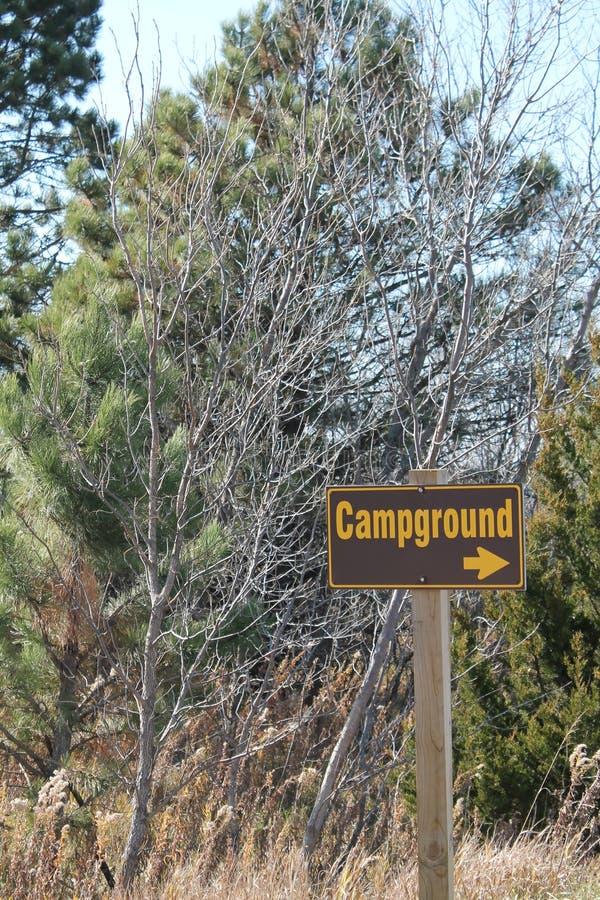 Sinal do Campground fotos de stock royalty free