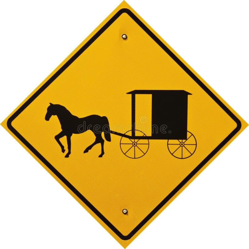 Sinal do carro e do Buggy de Amish imagem de stock