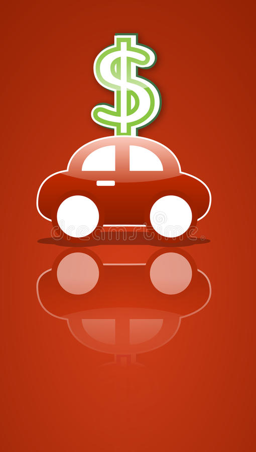 Sinal do carro e do dinheiro ilustração royalty free