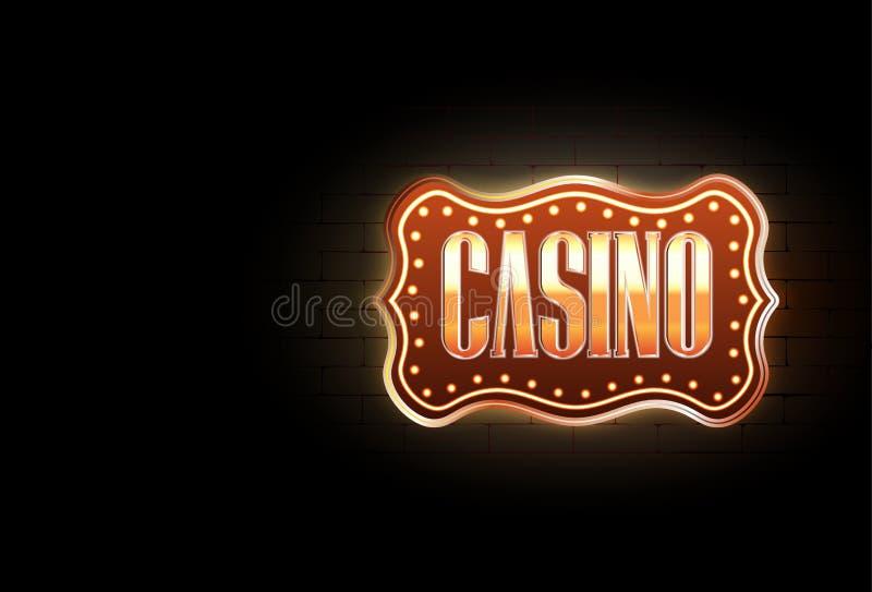 Sinal do casino ilustração royalty free