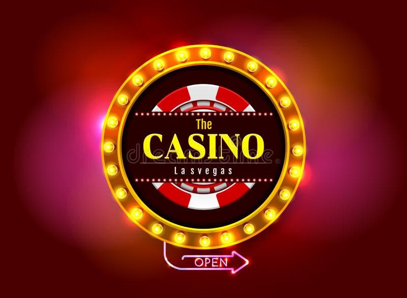 Sinal do casino ilustração do vetor