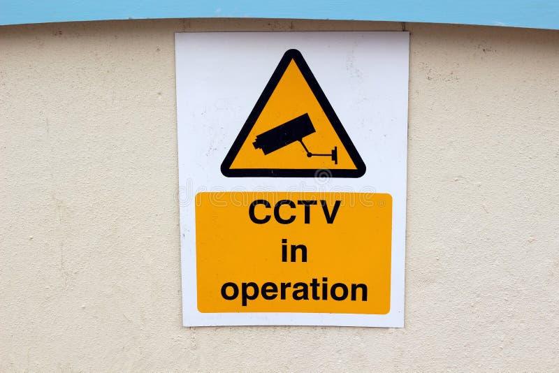 Sinal do CCTV fotografia de stock royalty free