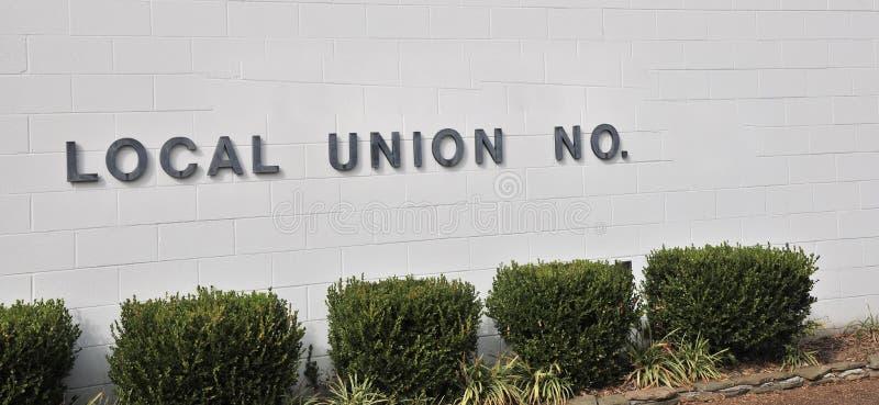 Sinal do centro da união local fotos de stock royalty free