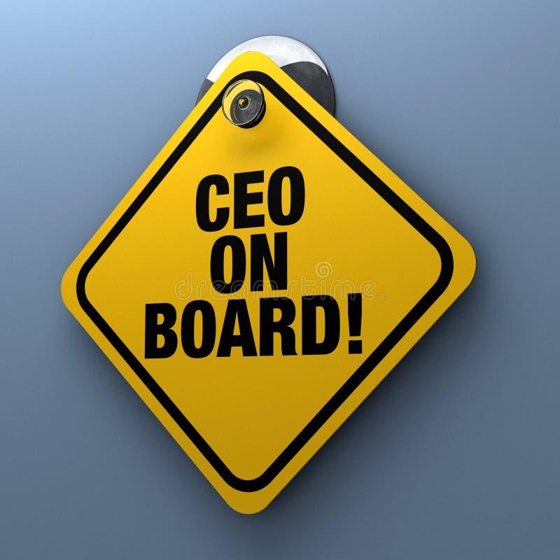 Sinal do CEO a bordo ilustração do vetor