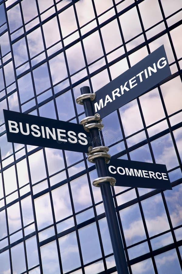 Sinal do comércio do mercado do negócio fotos de stock