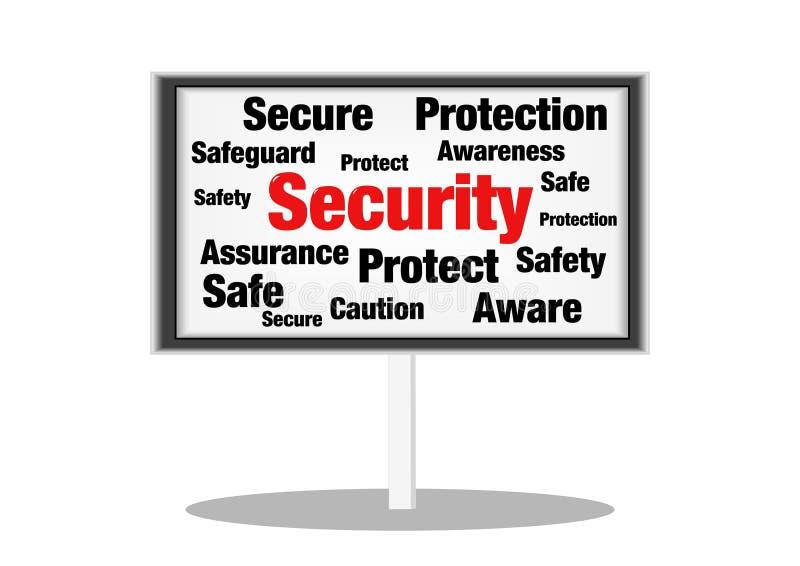 Sinal do conceito da segurança imagens de stock