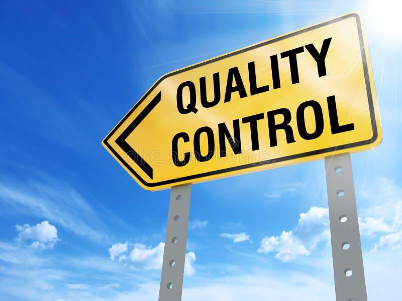 Sinal do controle da qualidade ilustração do vetor