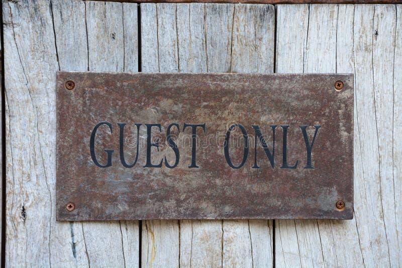 Sinal do convidado somente imagem de stock royalty free