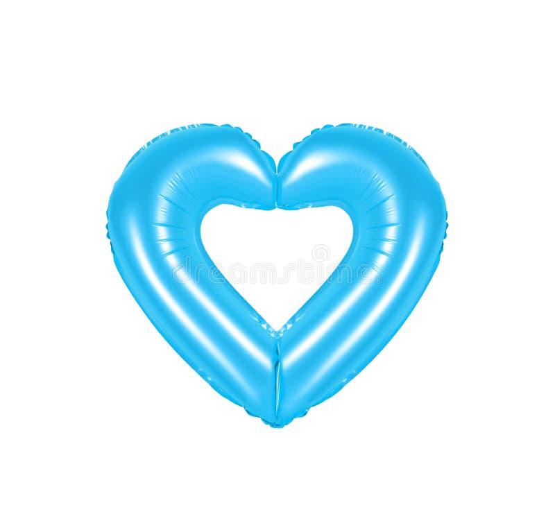 Sinal do coração, cor azul imagens de stock royalty free