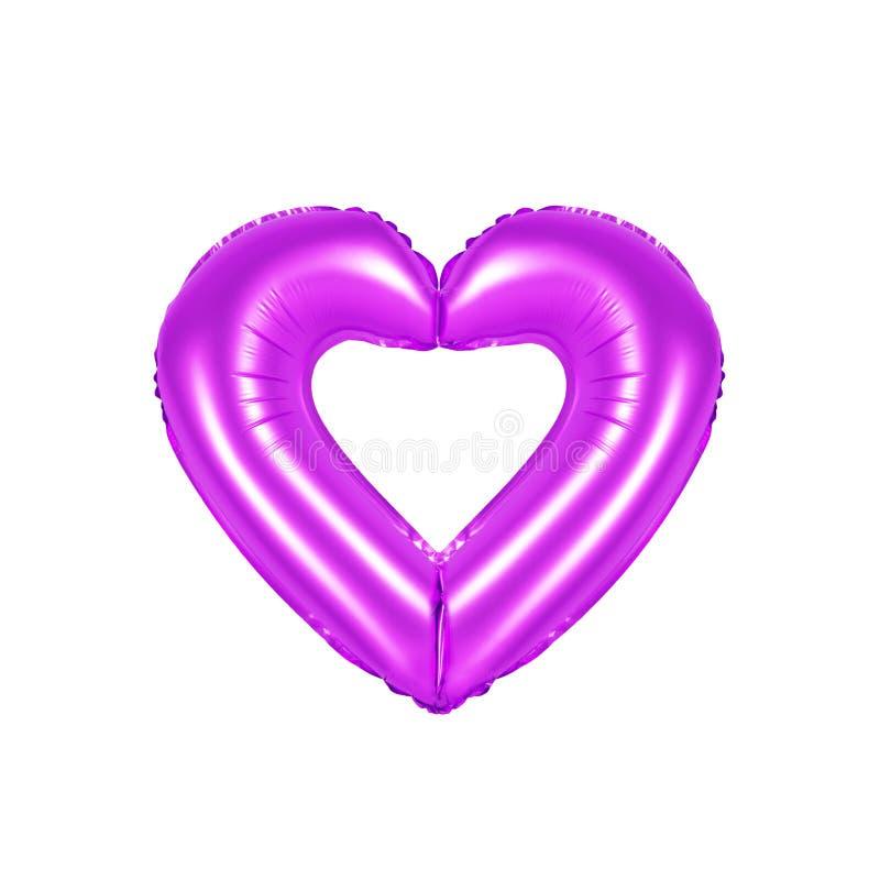 Sinal do coração, cor roxa fotografia de stock royalty free