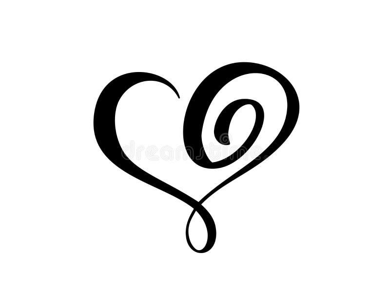 Sinal do coração do vetor ?cone no fundo branco Símbolo romântico da ilustração ligado, amor, paixão e casamento molde ilustração royalty free