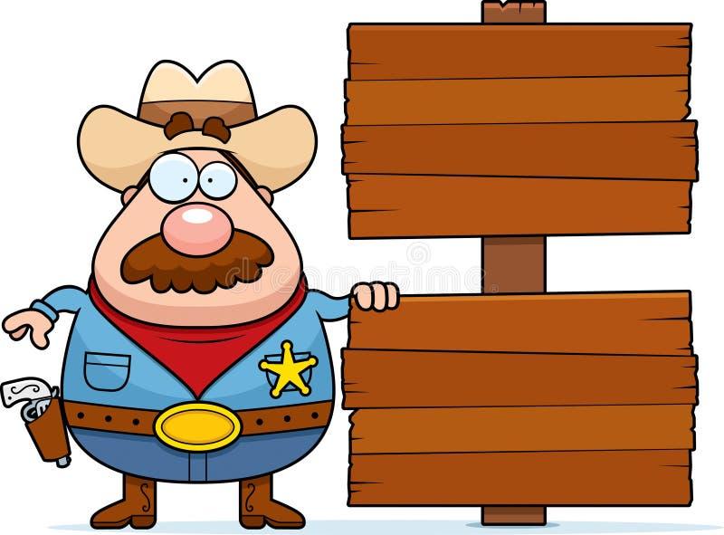 Sinal do cowboy ilustração do vetor