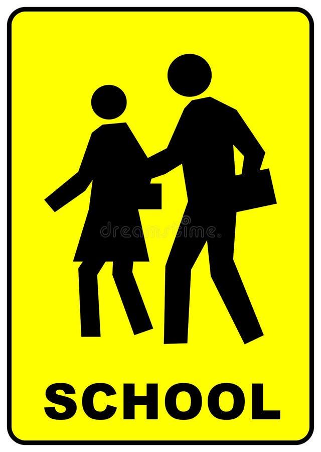 Sinal do cruzamento de escola ilustração stock