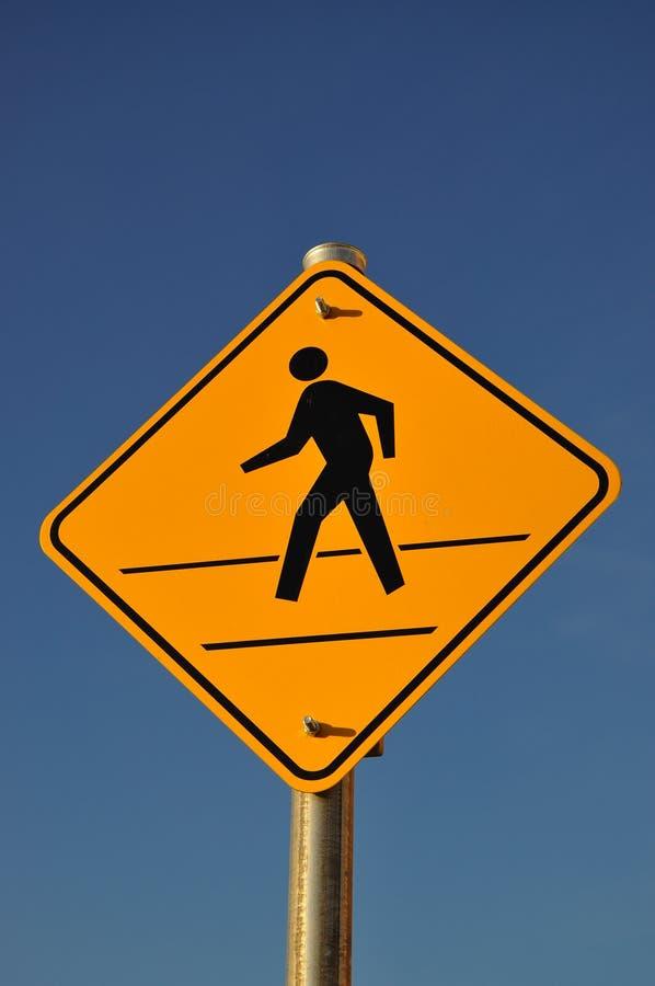 Sinal Do Cruzamento De Pedestre Foto de Stock