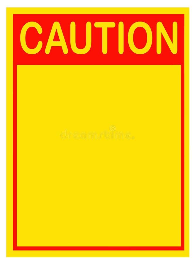 Sinal do cuidado, placa fotografia de stock royalty free