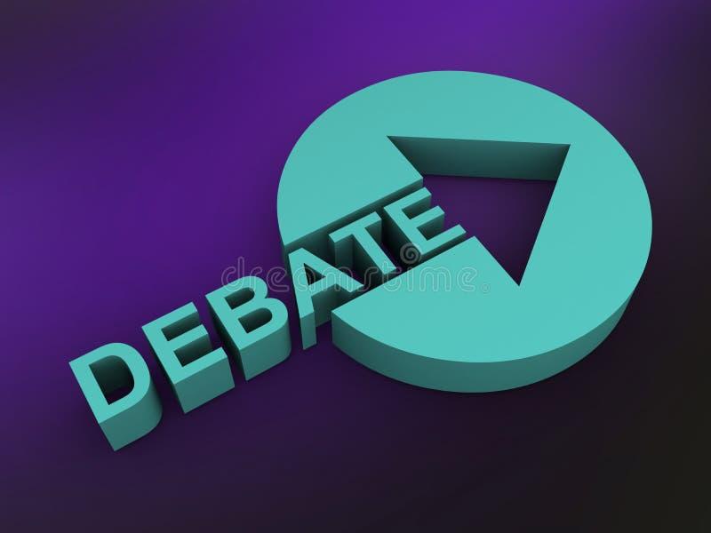 Sinal do debate ilustração do vetor