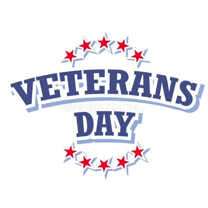Sinal do dia de veteranos ilustração do vetor