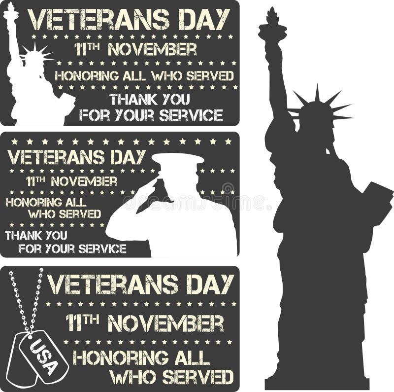 Sinal do dia de veteranos ilustração royalty free