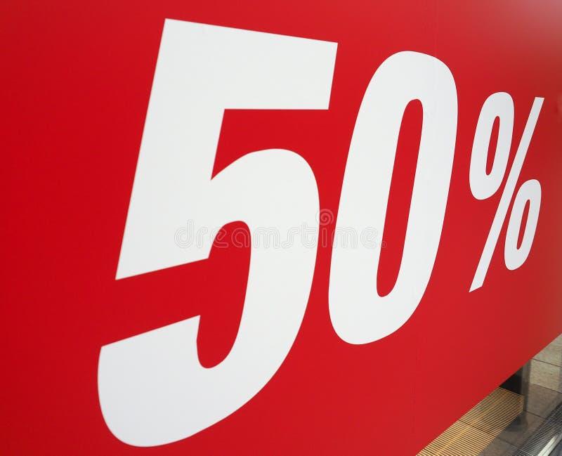 sinal do disconto de 50% imagens de stock royalty free