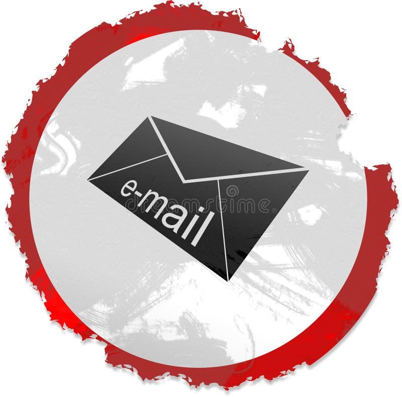Sinal do email de Grunge ilustração royalty free