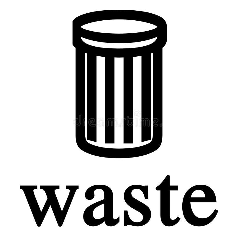 Sinal do escaninho Waste ilustração royalty free