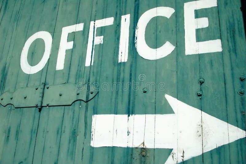 Sinal do escritório fotos de stock