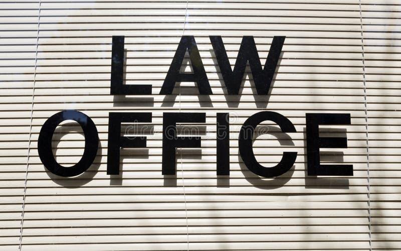 Sinal do escritório de advogados foto de stock