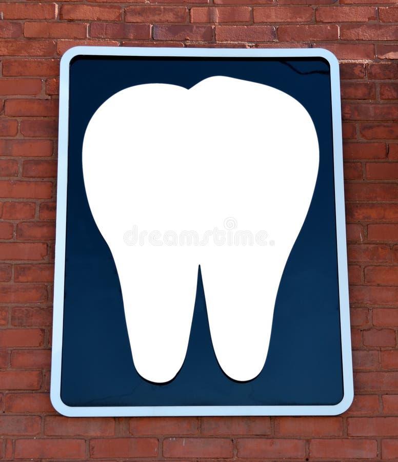 Sinal do escritório do dentista imagem de stock