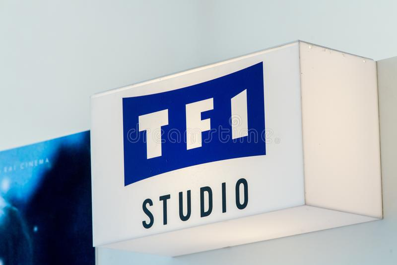 Sinal do estúdio de TFI imagem de stock