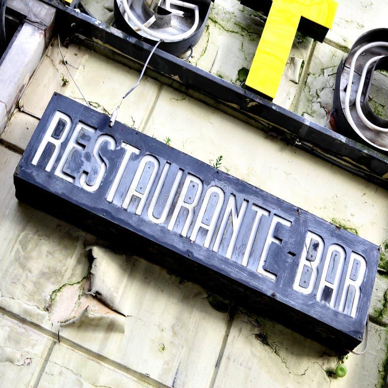 Restaurante abandonado foto de stock