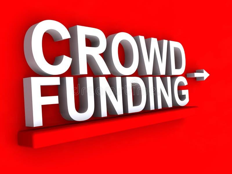 Sinal do financiamento da multidão ilustração stock