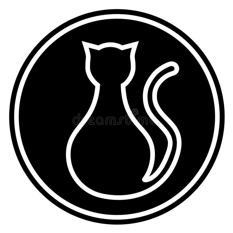 Sinal do gato preto ilustração stock