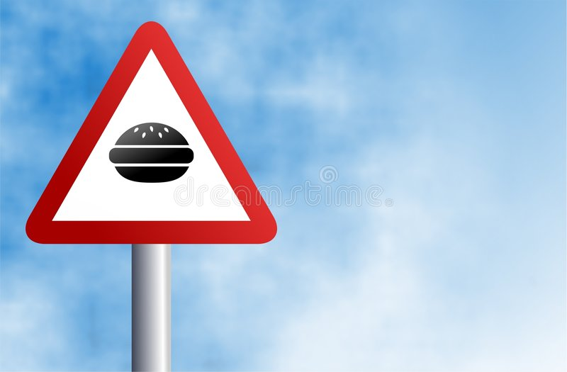 Sinal do hamburguer ilustração do vetor