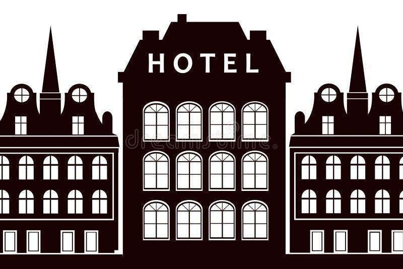 Sinal do hotel ilustração royalty free