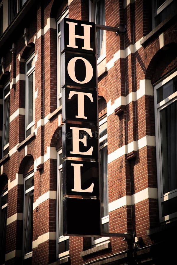 Sinal do HOTEL imagens de stock royalty free