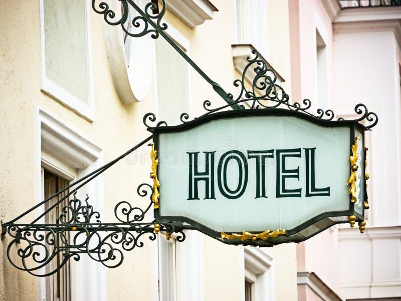 Sinal do hotel fotografia de stock