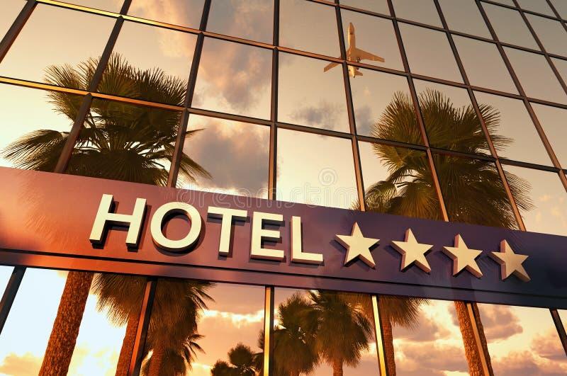 Sinal do hotel com estrelas ilustração royalty free