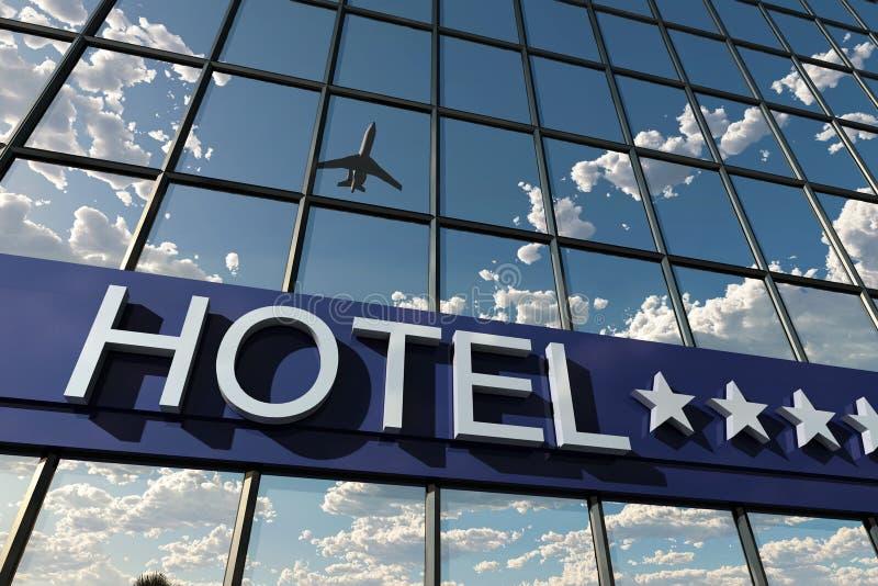 Sinal do hotel com estrelas ilustração do vetor