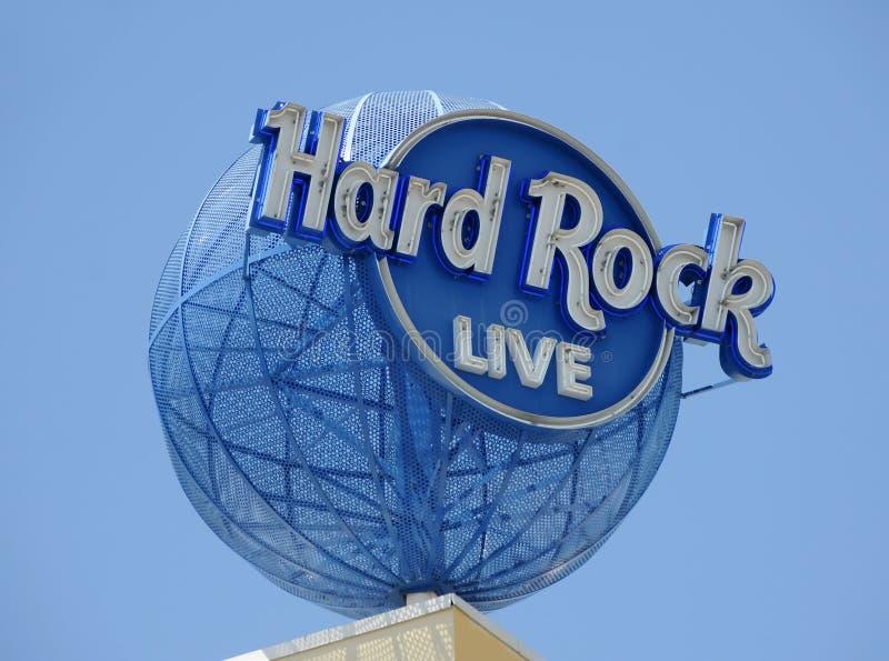 Sinal do hotel e do casino do hard rock fotos de stock royalty free
