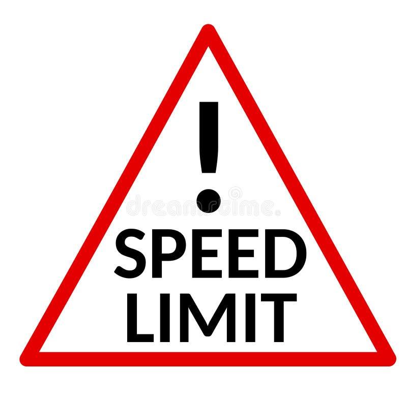 Sinal do limite de velocidade no fundo branco ilustração stock