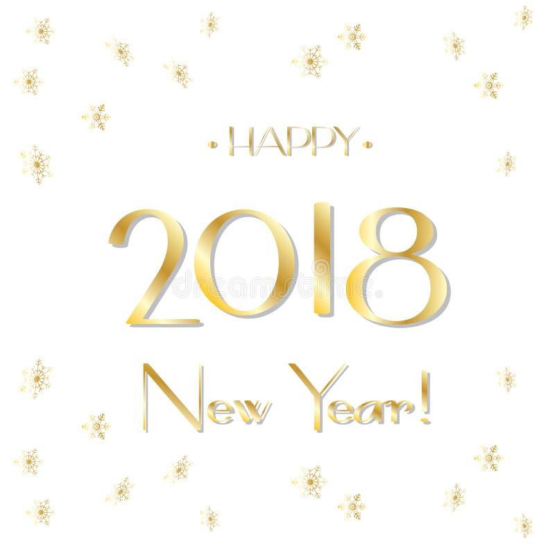2018 sinal do logotipo, cartão do ano novo feliz ilustração do vetor