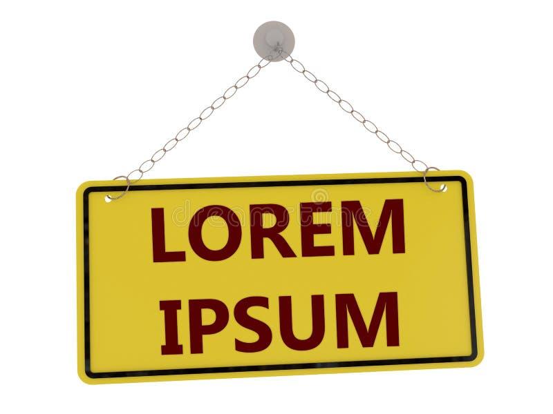 Sinal do lorem ipsum ilustração stock