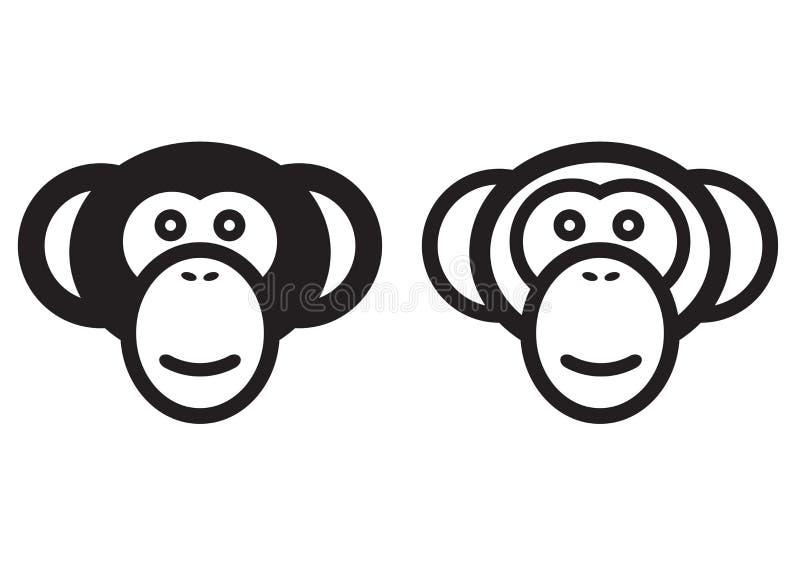 Sinal do macaco ilustração royalty free