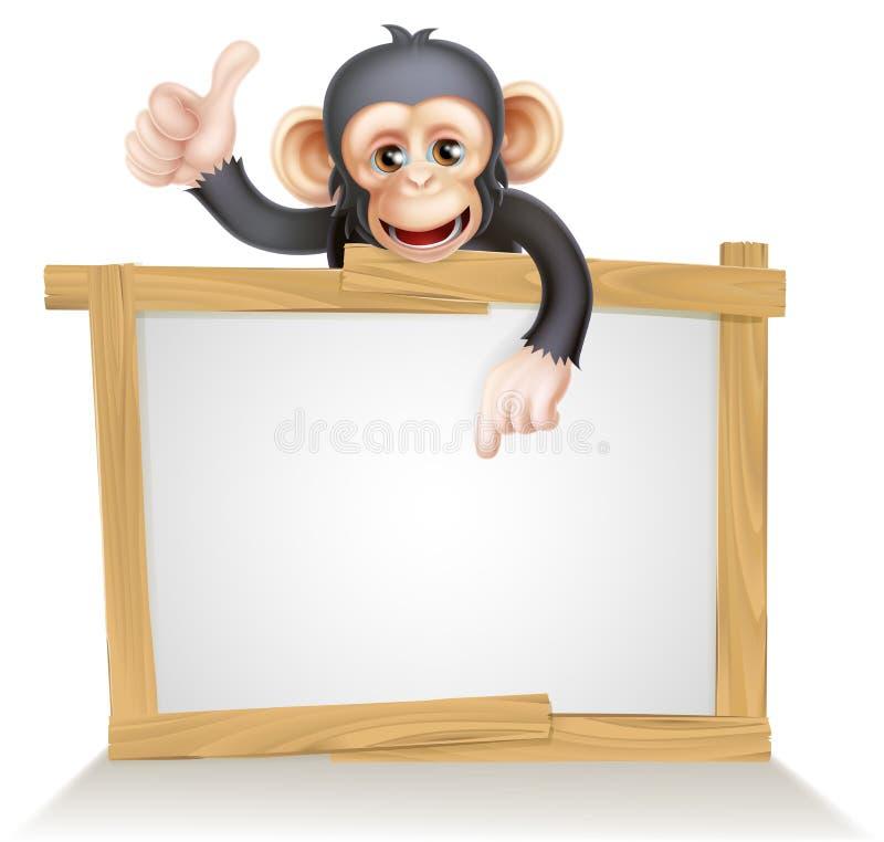 Sinal do macaco ilustração stock