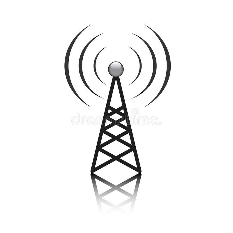 Sinal do mastro da antena ilustração royalty free